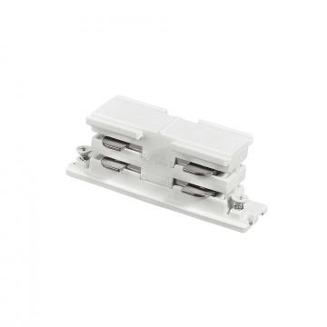 Внутренний прямой соединитель питания для треков Ideal Lux LINK ELECTRIFIED CONNECTOR WH ON-OFF 169637 (LINK ELECTRIFIED CONNECTOR WHITE), белый, пластик