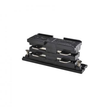 Внутренний прямой соединитель питания для треков Ideal Lux LINK ELECTRIFIED CONNECTOR BK ON-OFF 169644 (LINK ELECTRIFIED CONNECTOR BLACK), черный, пластик