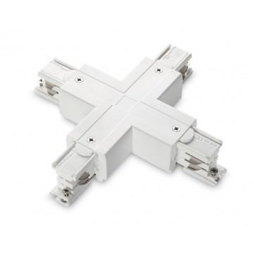 X-образный соединитель для шинопровода Ideal Lux LINK TRIMLESS X-CONNECTOR WHITE 169897, белый, пластик