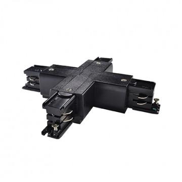 X-образный соединитель для шинопровода Ideal Lux LINK TRIMLESS X-CONNECTOR BLACK 169903, черный, пластик