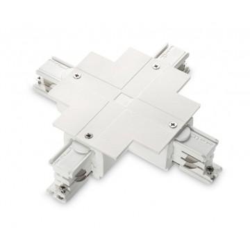 X-образный соединитель для шинопровода Ideal Lux LINK TRIM X-CONNECTOR WHITE 188171, белый, пластик