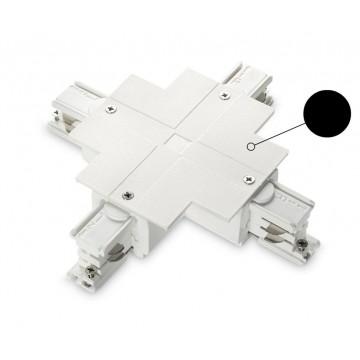 X-образный соединитель для шинопровода Ideal Lux LINK TRIM X-CONNECTOR BLACK 188188, черный, пластик