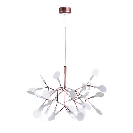 Подвесная светодиодная люстра Loft It Heracleum 9022-27, LED 8,1W, медь, белый, металл, пластик