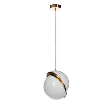 Подвесной светильник Loft It Crescent 5063-A, 1xE27x40W, золото, белый с золотом, металл, пластик