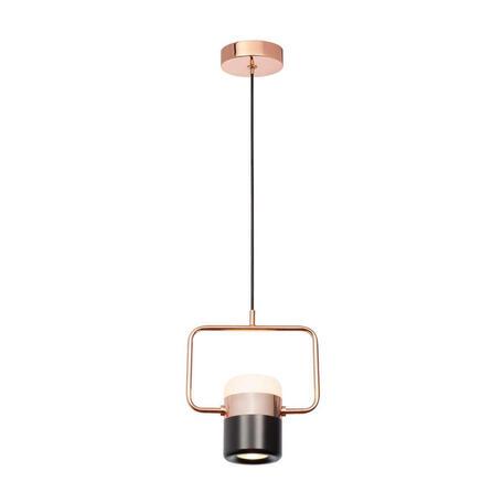 Подвесной светодиодный светильник Loft It Ling 8118-B, LED 8W, медь, черный, металл, металл с пластиком