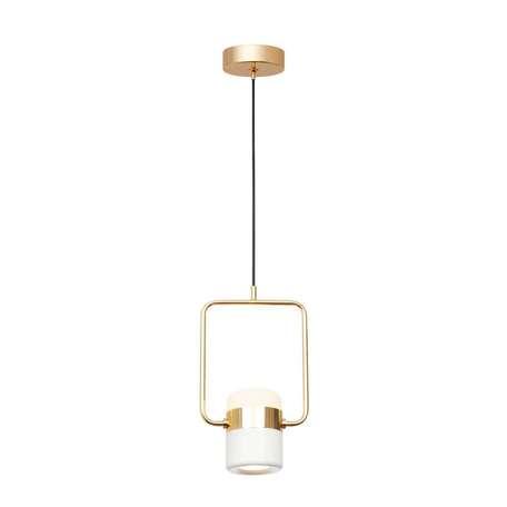 Подвесной светодиодный светильник Loft It Ling 8119-A, LED 8W, золото, белый, металл, металл с пластиком