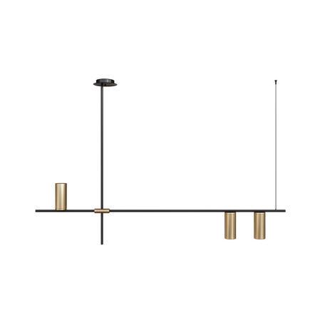 Подвесной светильник Loft It Tribes 8120-3, 3xE27x40W, черный с золотом, золото, металл