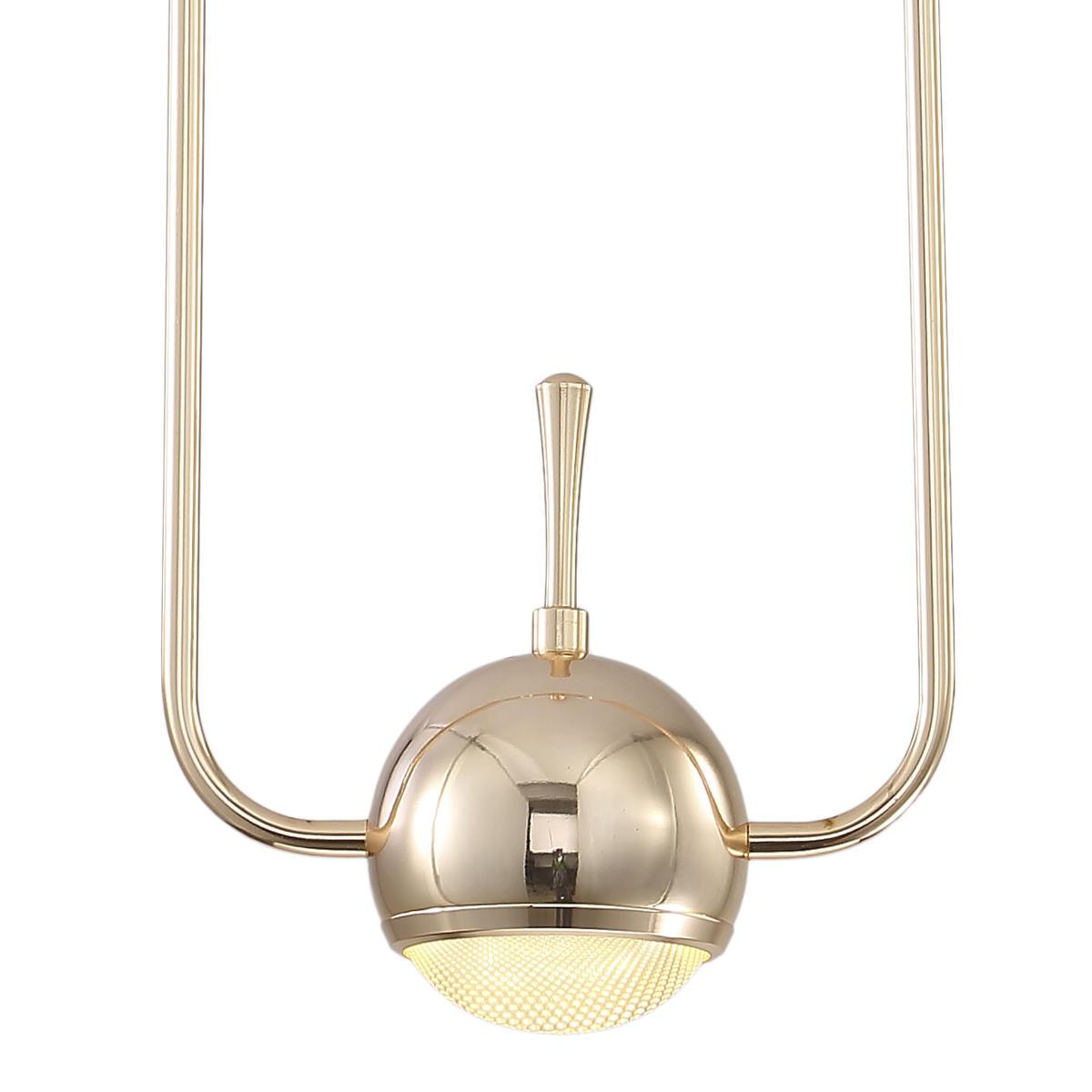 Подвесной светодиодный светильник Loft It Nuance 8139-A, LED 10W, золото, металл, металл с пластиком - фото 3