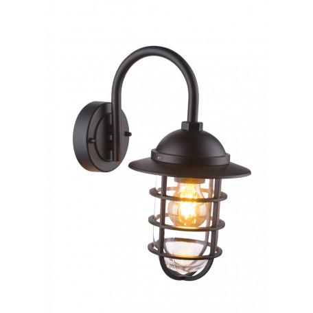 Настенный фонарь Globo Nautica 31839B, IP44, 1xE27x60W, металл, стекло