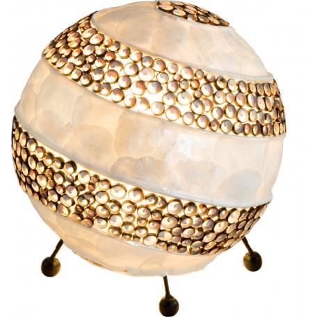 Настольная лампа Globo Bali 25815, 1xE27x40W, металл, ракушки