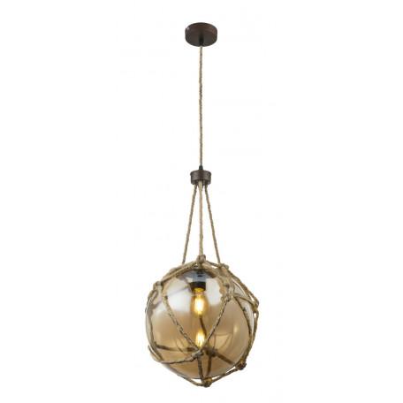Подвесной светильник Globo Tiko 15859H1, 1xE27x60W, металл, канат, стекло