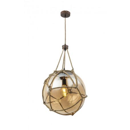 Подвесной светильник Globo Tiko 15859H2, 1xE27x60W, металл, канат, стекло