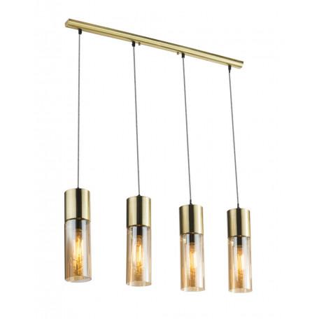 Подвесной светильник Globo Annika 21000-4HM, 4xE27x25W, металл, стекло