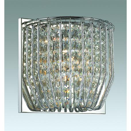 Настенный светильник Odeon Light Eloi 3478/1W, 1xG9x42W, хром, прозрачный, металл, хрусталь