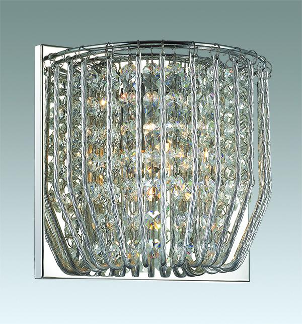 Настенный светильник Odeon Light Eloi 3478/1W, 1xG9x42W, хром, металл, хрусталь - фото 1