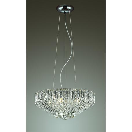 Подвесная люстра Odeon Light Eloi 3478/5, 5xG9x42W, хром, прозрачный, металл, хрусталь