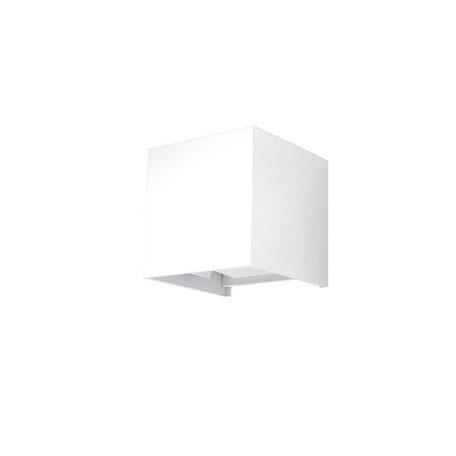 Настенный светодиодный светильник Sollux Luca SL.0544, IP54, LED 6W 3000K, белый, металл