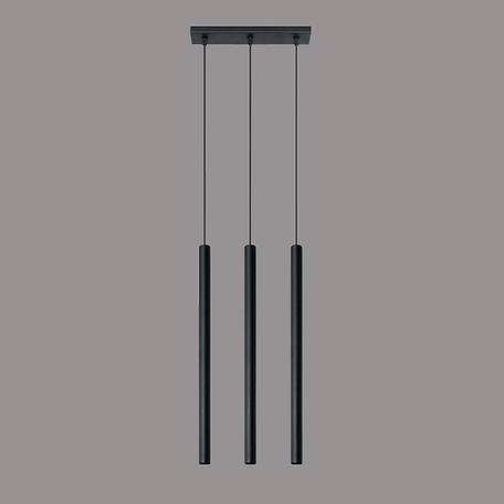 Подвесной светильник Sollux Pastelo SL.0470, 3xG9x40W, черный, металл