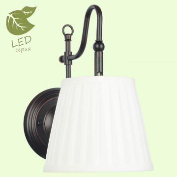 Бра Lussole Loft Milazzo GRLSL-2901-01, IP21, 1xE14x6W, черный, белый, металл, текстиль