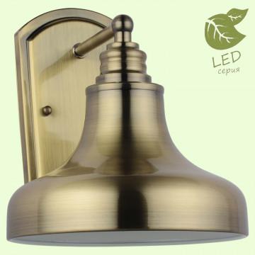 Бра Lussole Loft Sona GRLSL-3001-01, IP21, 1xE27x10W, бронза, металл