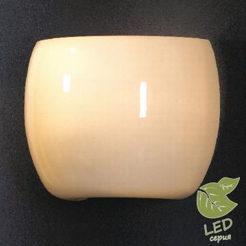 Настенный светильник Lussole Mela GRLSN-0201-01, IP21, 1xE14x6W, хром, белый, металл, стекло