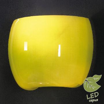 Настенный светильник Lussole Mela GRLSN-0221-01, IP21, 1xE14x6W, хром, зеленый, металл, стекло