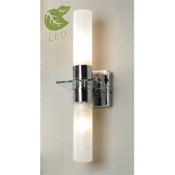 Настенный светильник Lussole Loft Liguria GRLSL-5901-02, IP44, 2xE14x6W, хром, белый, металл, стекло