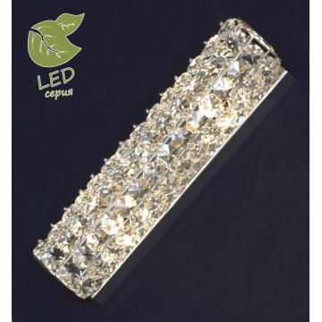 Настенный светильник Lussole Loft Stintino GRLSL-8701-02, IP21, 2xG9x5W, хром, прозрачный, металл, стекло
