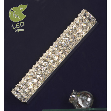 Настенный светильник Lussole Loft Stintino GRLSL-8701-03, IP21, 3xG9x5W, хром, прозрачный, металл, стекло