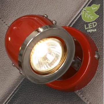Настенный светильник с регулировкой направления света Lussole Loft Tivoli GRLSN-3101-01, IP21, 1xGU10x5,5W, красный, металл