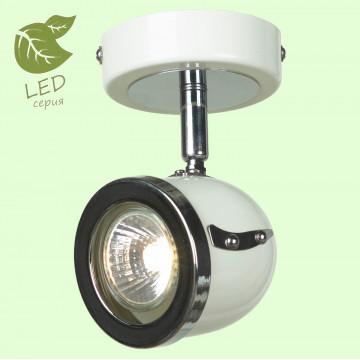 Настенный светильник с регулировкой направления света Lussole Loft Tivoli GRLSN-3111-01, IP21, 1xGU10x5,5W, белый, хром, металл