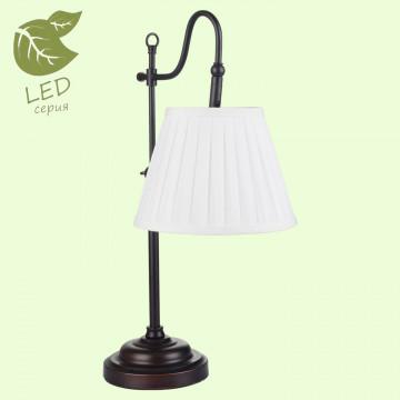 Настольная лампа Lussole Loft Milazzo GRLSL-2904-01, IP21, 1xE14x6W, черный, белый, металл, текстиль