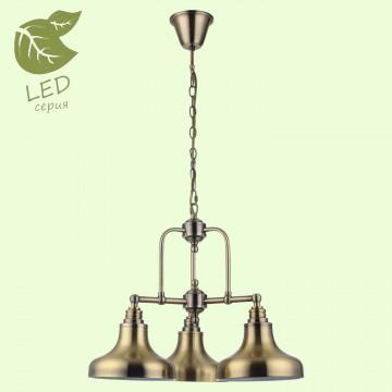 Подвесная люстра Lussole Loft Sona GRLSL-3003-03, IP21, 3xE27x10W, бронза, металл