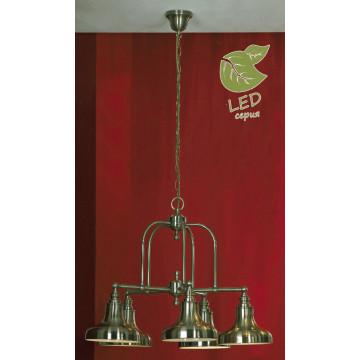 Подвесная люстра Lussole Loft Sona GRLSL-3003-05, IP21, 5xE27x10W, бронза, металл