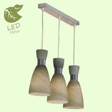 Подвесной светильник Lussole Loft Marcelli GRLSF-7386-03, IP21, 3xE27x10W, хром, серый, металл, стекло