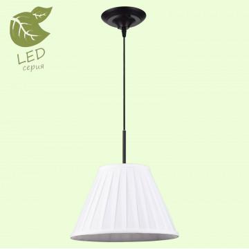 Подвесной светильник Lussole Loft Milazzo GRLSL-2906-01, IP21, 1xE27x10W, черный, белый, металл, текстиль