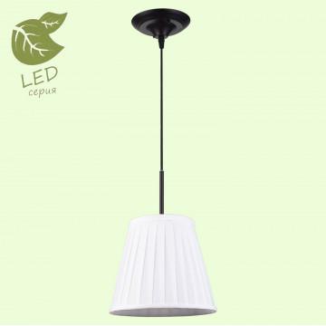 Подвесной светильник Lussole Loft Milazzo GRLSL-2916-01, IP21, 1xE14x6W, черный, белый, металл, текстиль