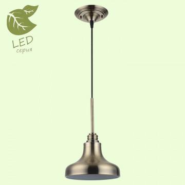 Подвесной светильник Lussole Loft Sona GRLSL-3006-01, IP21, 1xE27x10W, бронза, металл