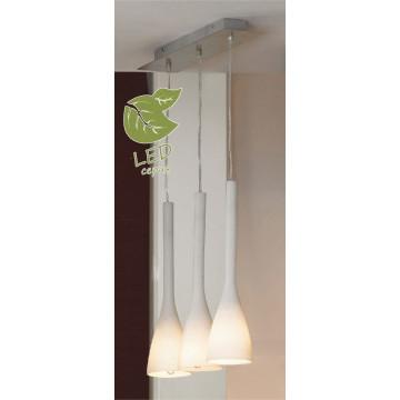 Подвесной светильник Lussole Loft Varmo GRLSN-0106-03, IP21, 3xE14x6W, никель, белый, металл, стекло