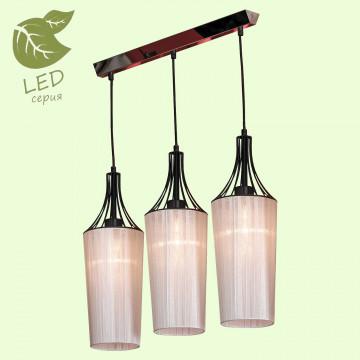 Подвесной светильник Lussole Loft Riardo GRLSN-5406-03, IP21, 3xE27x10W, черный, белый, металл, текстиль