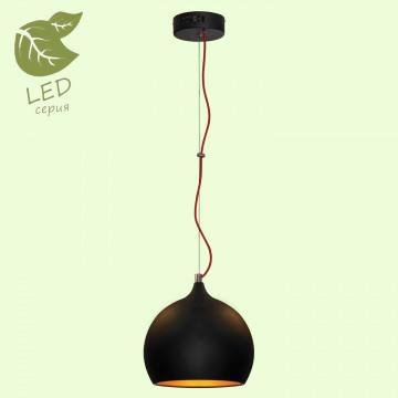Подвесной светильник Lussole Loft Aosta GRLSN-6116-01, IP21, 1xE27x10W, черный, металл