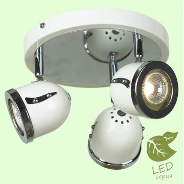 Потолочная люстра с регулировкой направления света Lussole Loft Tivoli GRLSN-3117-03, IP21, 3xGU10x5,5W, белый, хром, металл