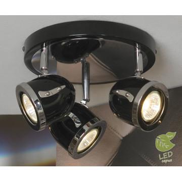 Потолочная люстра с регулировкой направления света Lussole Loft Tivoli GRLSN-3127-03, IP21, 3xGU10x5,5W, черный, металл