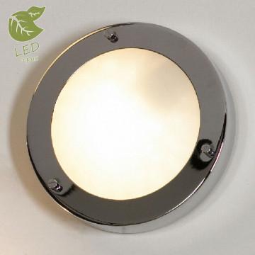 Потолочный светильник Lussole Aqua GRLSL-5512-01, IP44, 1xG9x5W, хром, белый, металл, стекло