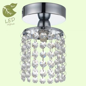 Потолочный светильник Lussole Loft Monteleto GRLSJ-0407-01, IP21, 1xG9x5W, хром, прозрачный, металл, стекло