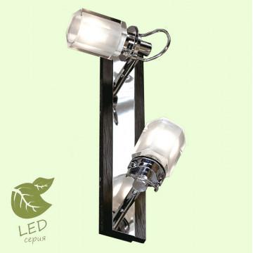 Потолочный светильник с регулировкой направления света Lussole Abruzzi GRLSL-7901-02, IP21, 2xG9x5W, черный, белый, металл с пластиком, стекло