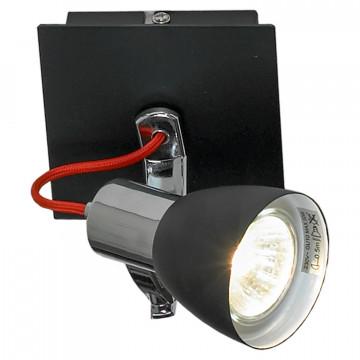 Потолочный светильник с регулировкой направления света Lussole Loft Frontino GRLSL-7401-01, IP21, 1xGU10x5,5W, черный, металл