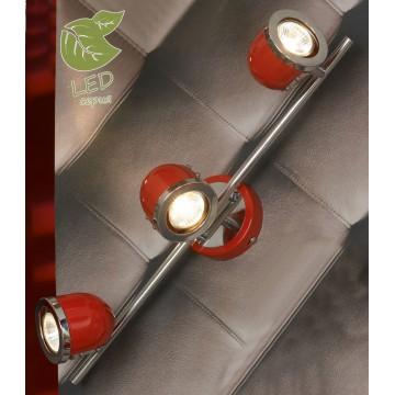 Потолочный светильник с регулировкой направления света Lussole Loft Tivoli GRLSN-3101-03, IP21, 3xGU10x5,5W, красный, металл