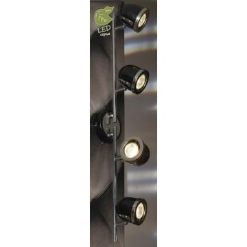 Потолочный светильник с регулировкой направления света Lussole Loft Tivoli GRLSN-3129-04, IP21, 4xGU10x5,5W, хром, черный, металл