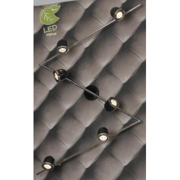 Потолочный светильник с регулировкой направления света Lussole Loft Tivoli GRLSN-3129-06, IP21, 6xGU10x5,5W, черный, хром, металл
